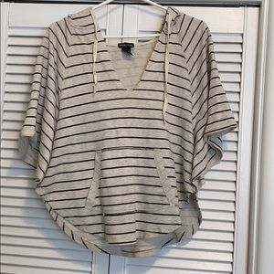 Wet Seal Striped Hooded Short Sleeve